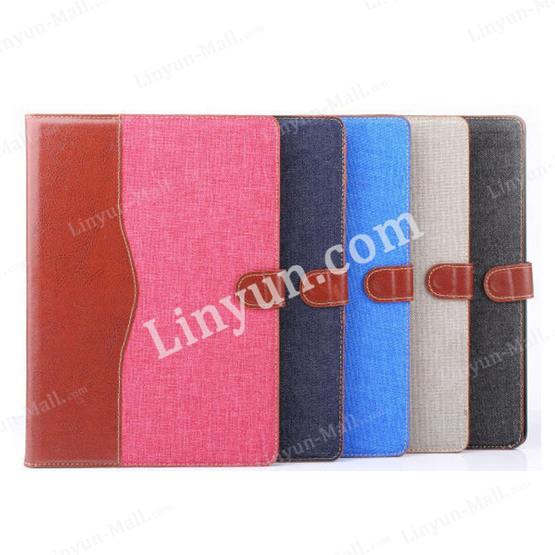 Hight quality for iPad air 2 Jeans genuine leather cover