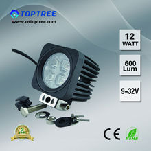 New 12W Working Lamp Leds Emergency Light For Truck Jeep Light ATV UTV SUV Headlight Toptree No.312