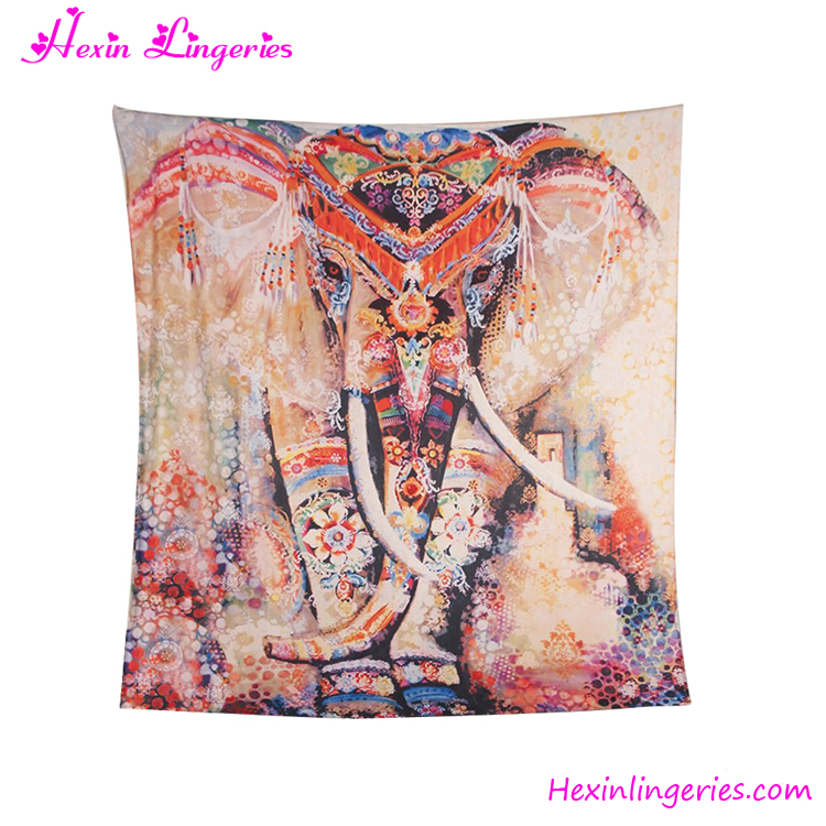 No Moq Square Printed Wholesale Indian Hippie Elephant