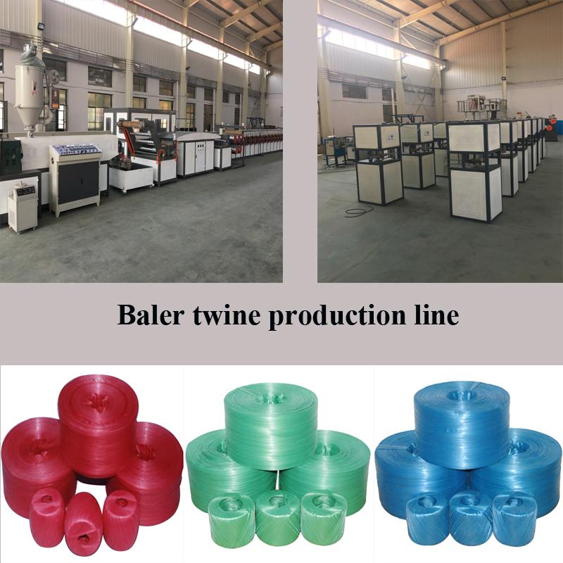 Customizable automatic binding rope film extrusion plastic rope making machine