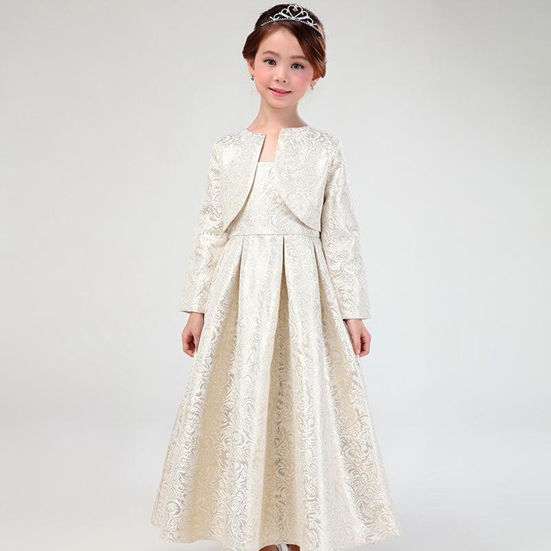 Elegant European Long Style Girls font b Dresses b font font b Fancy b font Formal