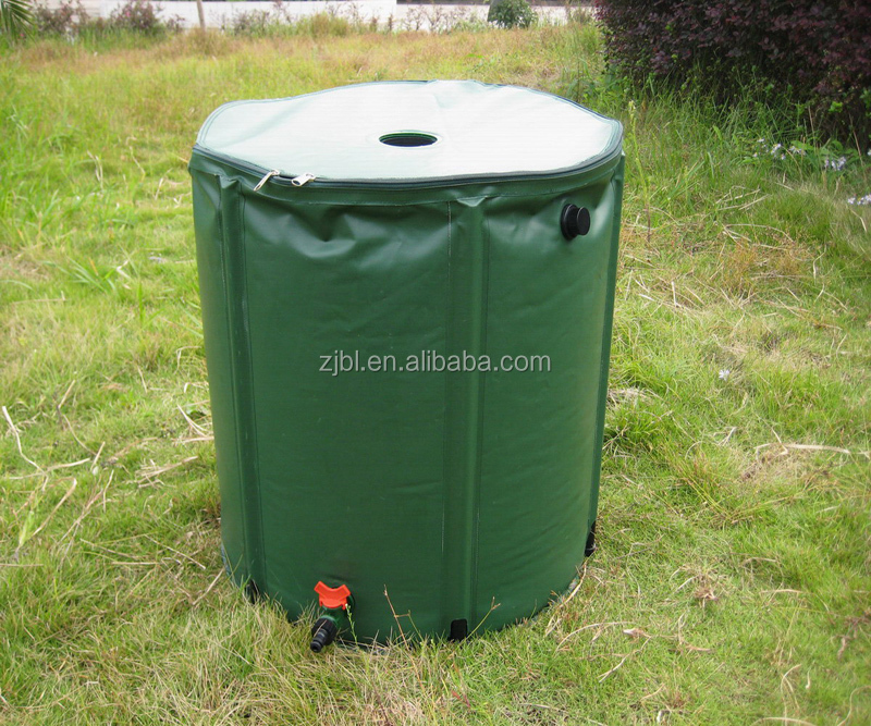 collapsible heavy duty PVC garden rain water tank system