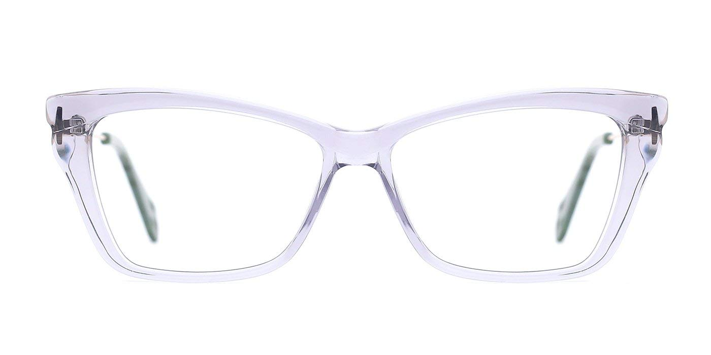e10297b637b Get Quotations · TIJN Bold Translucent Cateye Frame Metal Arm Eyeglasses  for Women