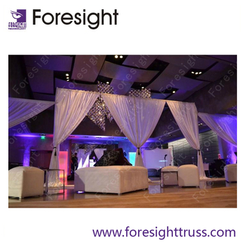High quality Foresight Aluminum backdrop wedding frame/pipe and drape system /backdrop