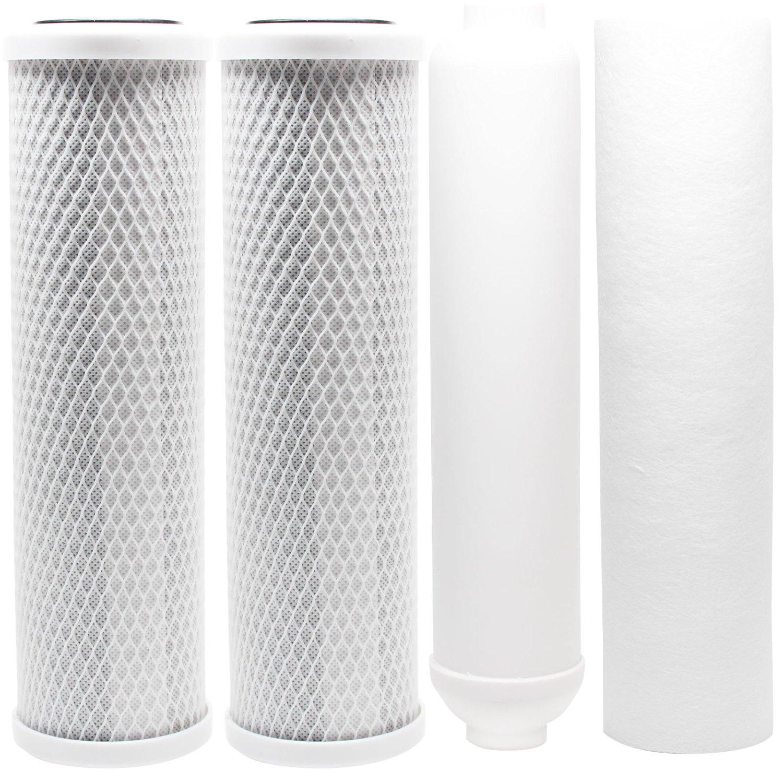 Denali Pure Universal 10 inch Carbon Block, Sediment, Inline Filter - Compatible with APEC ROES-50, APEC RO-90, Watts WP5-50, APEC ROES-PH75, Watts WP-5, APEC RO-PERM, Watts RO-TFM-5SV