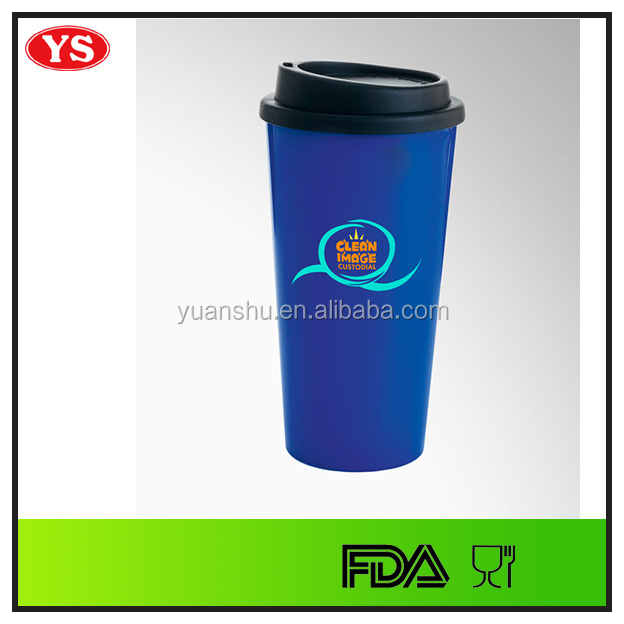16oz double wall insulated thermos plastic PP coffee tumbler