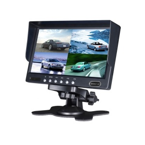 7 Inches TFT LCD Car Headrest split quad Monitor With 2 AV Port Color Car Monitor