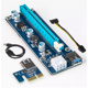 PCI-e riser x1 to x16 Bitcoin Mining Rigs PCI-e 1x to 16x 6PIN PCIE Debug Riser Card