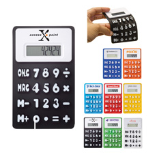 Good fancy shape top sell business office desktop flexible waterproof electronic 8 digits rubber key folding silicone calculator