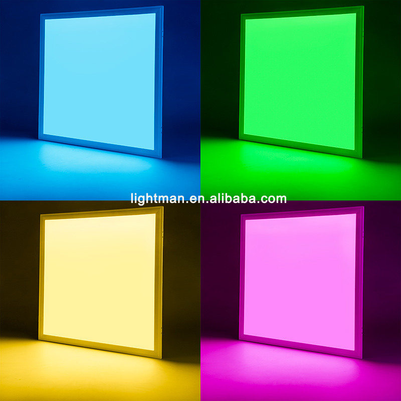 dc 24v 600 600mm rgb panel light led rgb panel 595x595. Black Bedroom Furniture Sets. Home Design Ideas