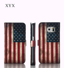 American Country Flag Case For Samsung Galaxy J7 Cover, Flip Phone Case