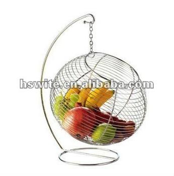 hanging fruit basket ,wire fruit basket,metal rruit basket