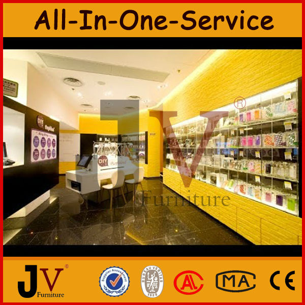 Beautiful Simple Baking Paint Marble Cell Phone Showroom Design,mobile Phone Furniture