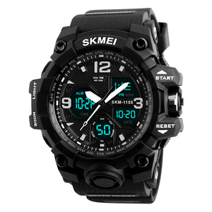 Athletic Watches Hot Jam Tangan Skmei 1155 Analog-Digital Watch Camouflage Army Pupils Wristwatch
