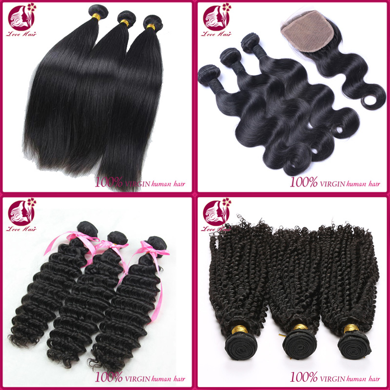 Top grade 10A virgin peruvian hair body wave straight loose wave deep curly kinky curly Peruvian virgin human hair weave