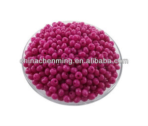 coiorful large wholesale plastic faceted seed bead