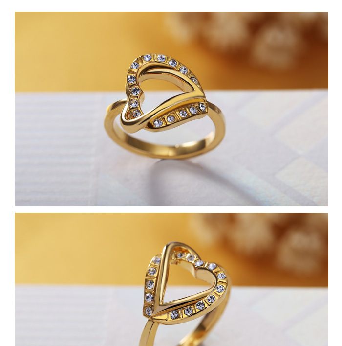 Heart shaped simple gold ring designs for men & women View simple