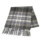 BLUE PHOENIX lambswool tartan custom fringe woven thick brushed winter scarf