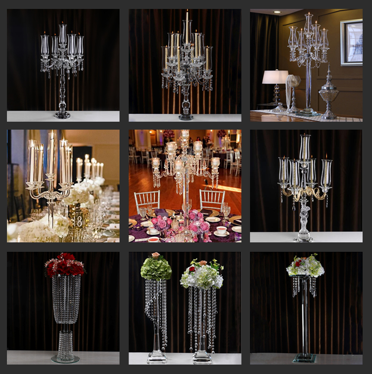 Wedding table centerpiece crystal candle holder crystal candelabra for home decor