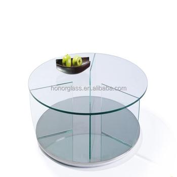 Ronde Glas Tafel.Super Clear Ronde Glas Voor Tafel Salontafel Glas Ovale Glazen Tafel