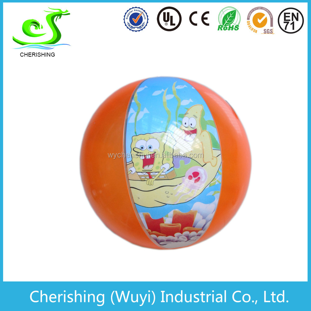 pvc water ball with cartoon characters inflatable beach ball, funny ball