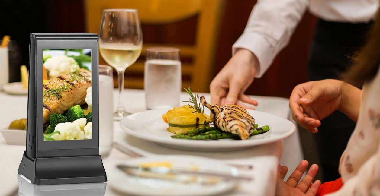 Neue gadgets 2019 elektronik werbung bank ladegerät restaurants mini digitale tabelle display tisch display power