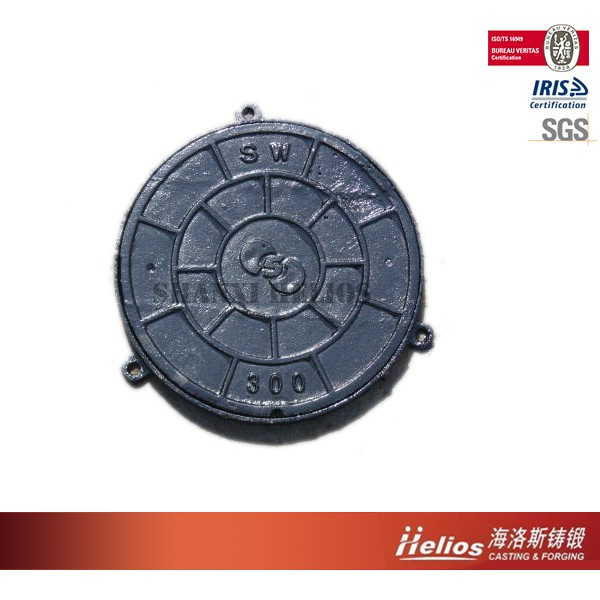Clay sand casting QT500-7 manhole cover