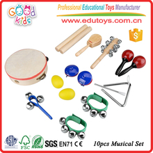 10 PCS Rhythm Band Set Music Instruments, Kids Early Educational Musical Percussion