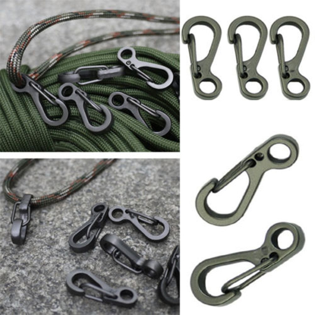 5X Spring SF Hooks Carabiner Key Chain Clip Hook Outdoor Buckle EDC Small EBUK