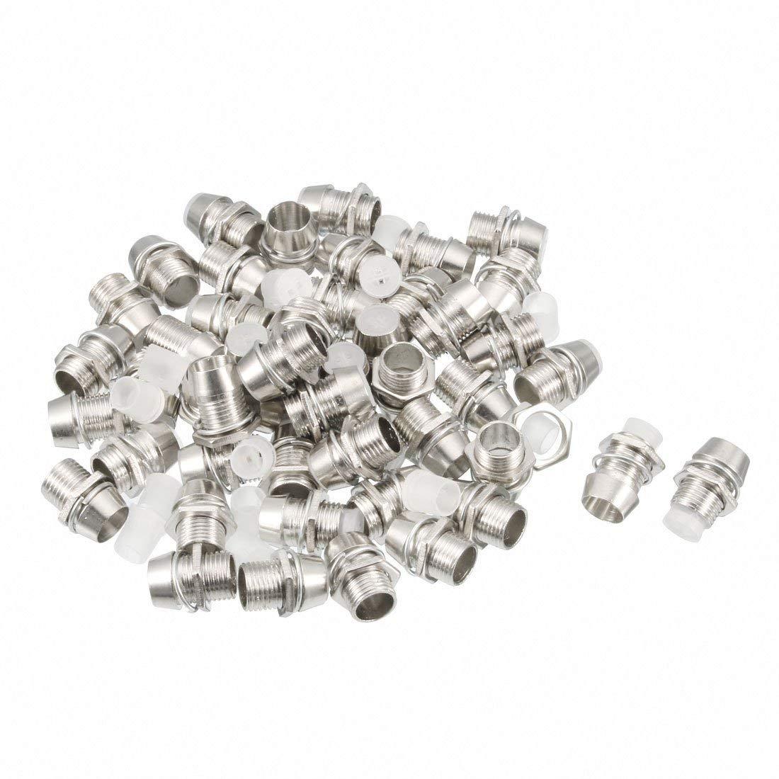 uxcell 50pcs 5mm LED Lamp Holder Light Bulb Socket Zinc Alloy Chrome Plated for Light-emitting Diode Lighting