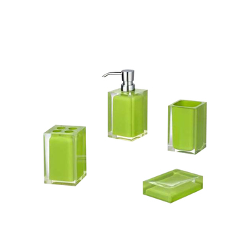 Resin Lime Green Bathroom Accessories Sets Factory