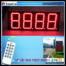 "RF, TCP/IP16"" inch Digital/time/temperature gas station LED petrol price sign display board"