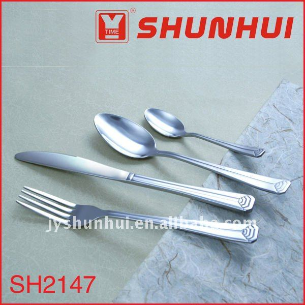 Stainless steel spoon knife fork set