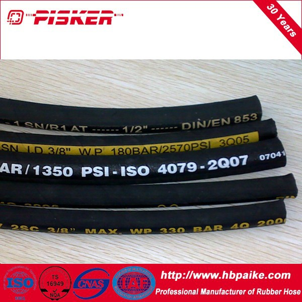 American And Germany Standard Hydraulic Hose R1,R2,R3,R4,R5,R6,R7,R8,R9,R12,R13,R15 For Oil From Jizhou Parker Hose Co.,Ltd.