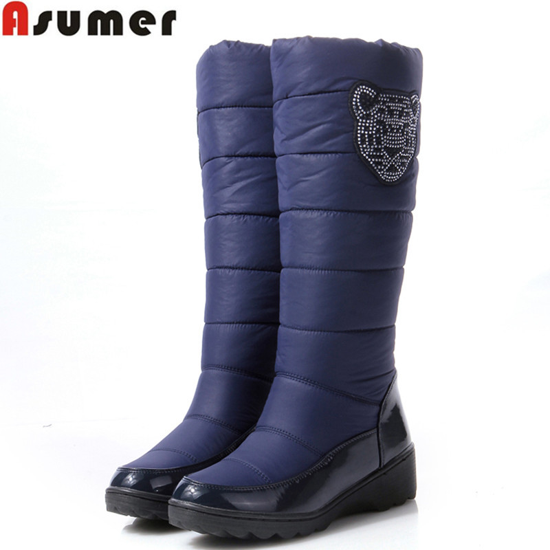 e4e27670652 AISIMI new arrive winter warm snow boots fashion platform fur cotton ...