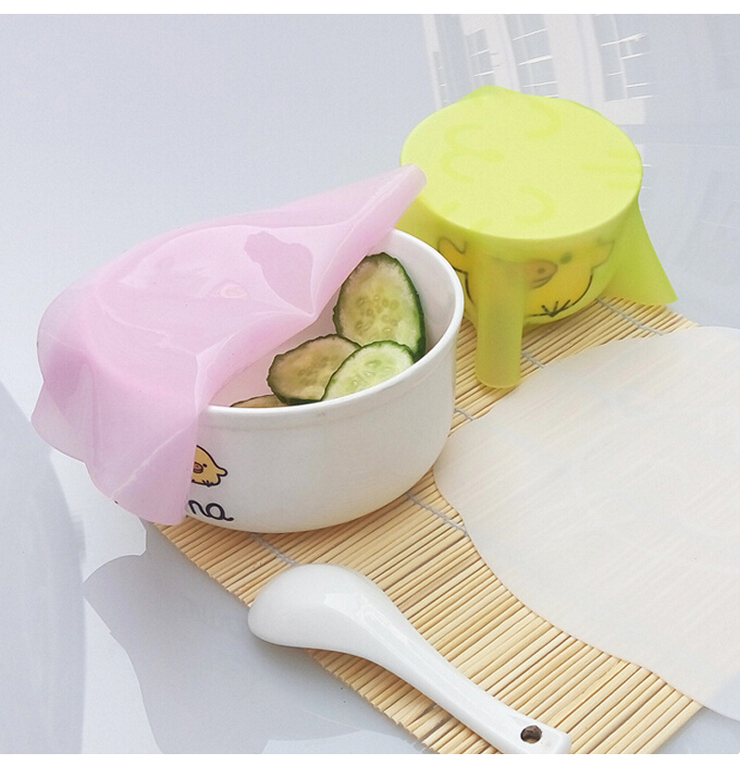 Silicone Food Savers Cling Film Fresh Food Cover Wrap Seal Cover Kitchen Helpers Silicone Food Stretch Cover Placemat