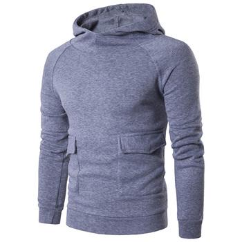e729d3753647 Custom Logo High Quality Pullover Pocket Sports Hoodie Plain Mens Oversized  Hoodies
