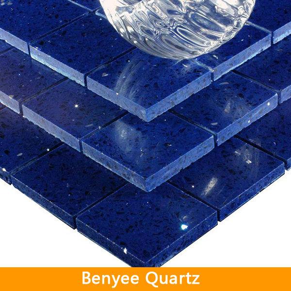 Mirror quartz stone blue quartz floor tiles