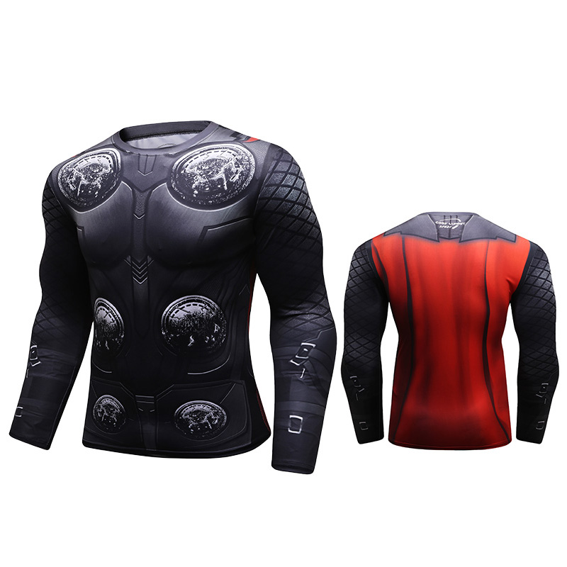 Marvel Hero compressie custom lange mouwen t-shirt/custom sublimatie rash guard