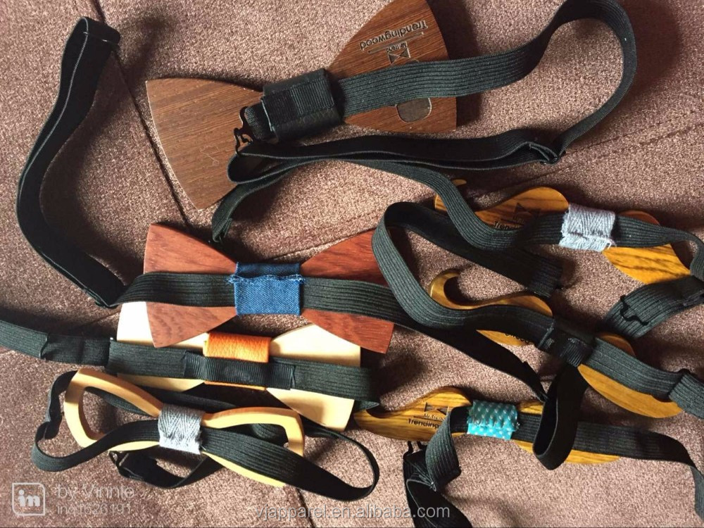 Natural Wooden Bow ties Men Bow Ties Natural Ebony Wood Bow Ties With Boxes