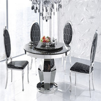 Antique Wrought Iron Table With Marble Top