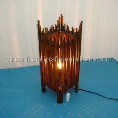 Rustic country bamboo electric table lamp for home decorative