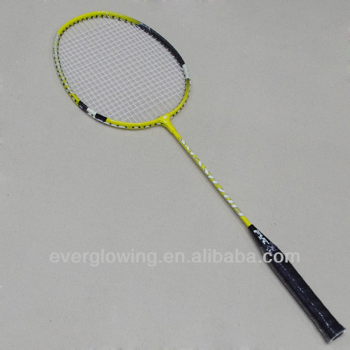 2015New Arrive Hot Sell Wholrsale Fashion Iron Yellow And Red XL7013 Specialized Badminton Racket