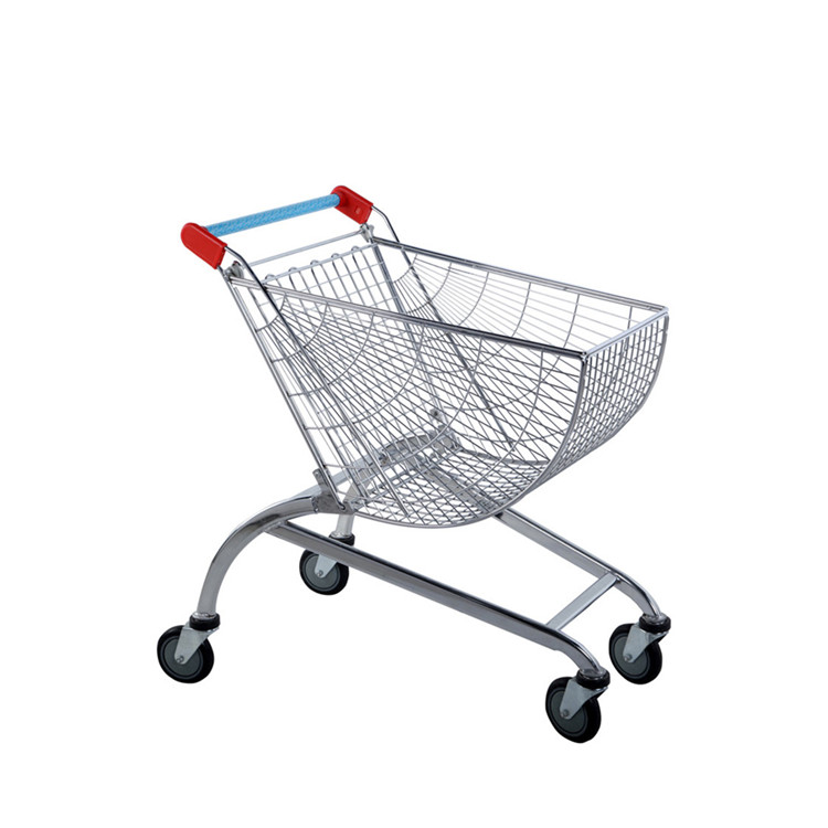 Shopping trolley new design round trolley supermarket cargo cart