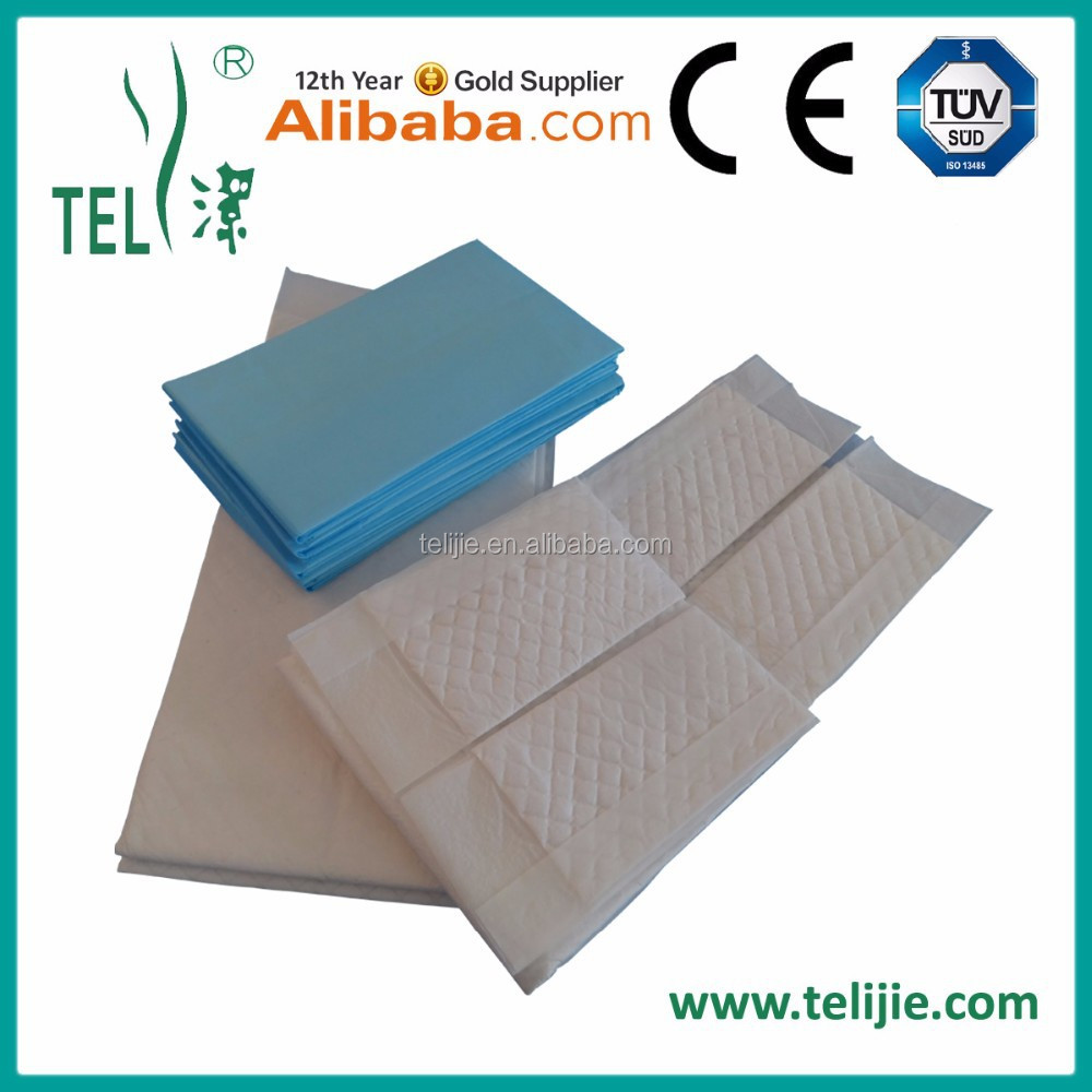 Disposable Adult Incontinence Underpad with Waterproof PE Film Back sheet