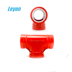 Epoxy grooved connection pipe fittings tee fm&ul grooved fittings
