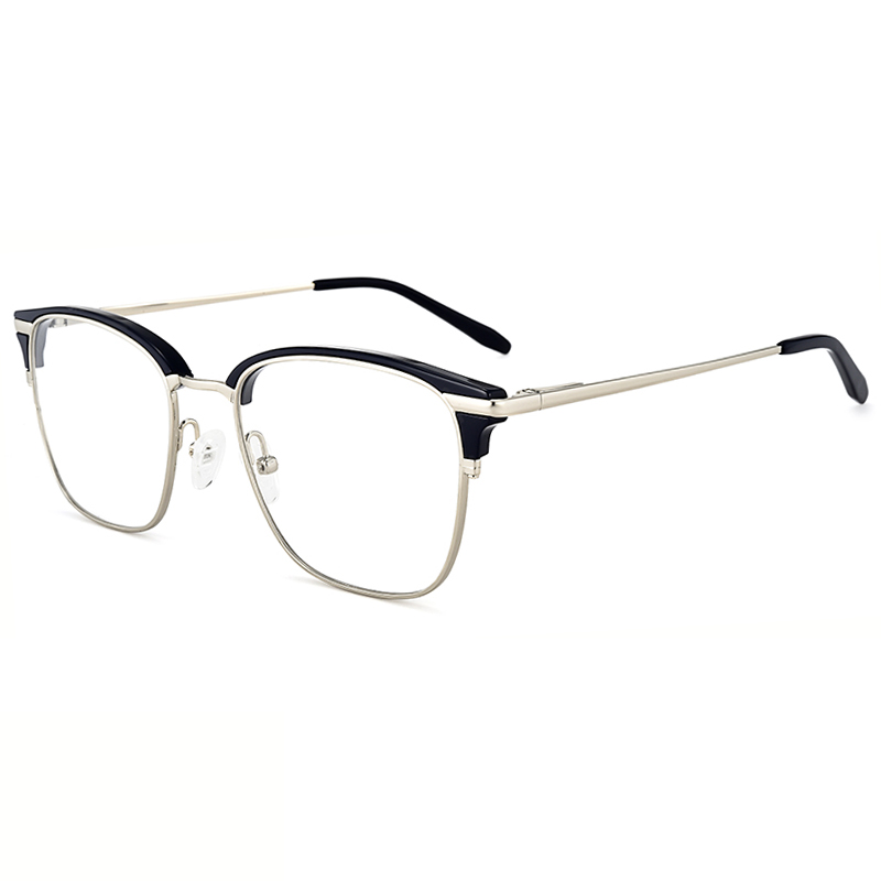 New Acetate metal Spectacle Eyewear China Wholesale Optical Eyeglasses Frame computer blue light blocking glasses for man