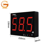 SNDWAY SW-525A Noise Meter Digital 30 to130dB large LCD Wall Hanging Type Sound Level Meter