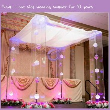 k6557 lighted crystal decorative acrylic wedding columns wholesale