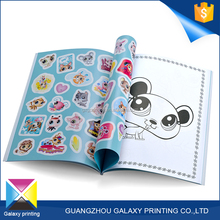 Guangzhou professional OEM/ODM Manufacture intelligence light blue children sticker book printing